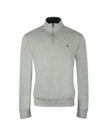 Polo Ralph Lauren Mens Grey Half Zip Thin Sweatshirt