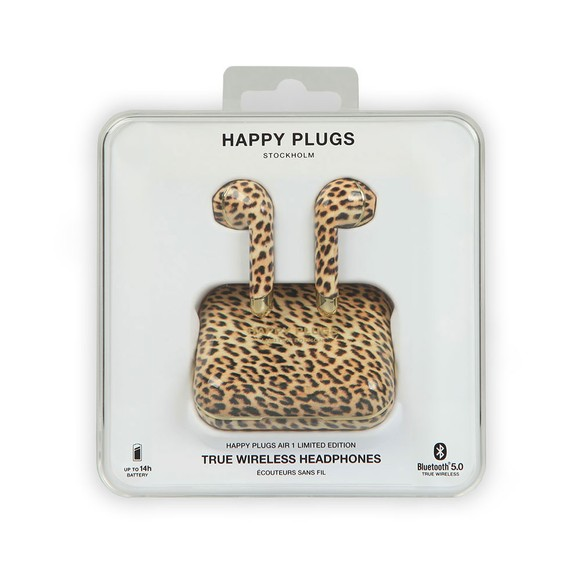 Happy Plugs Unisex Leopard Air 1 Limited Edition Wireless Headphones main image
