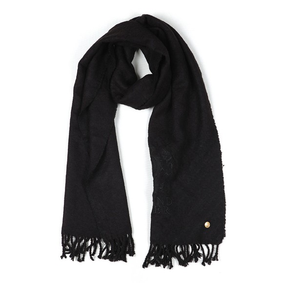 Holland Cooper Womens Black Chelsea Scarf