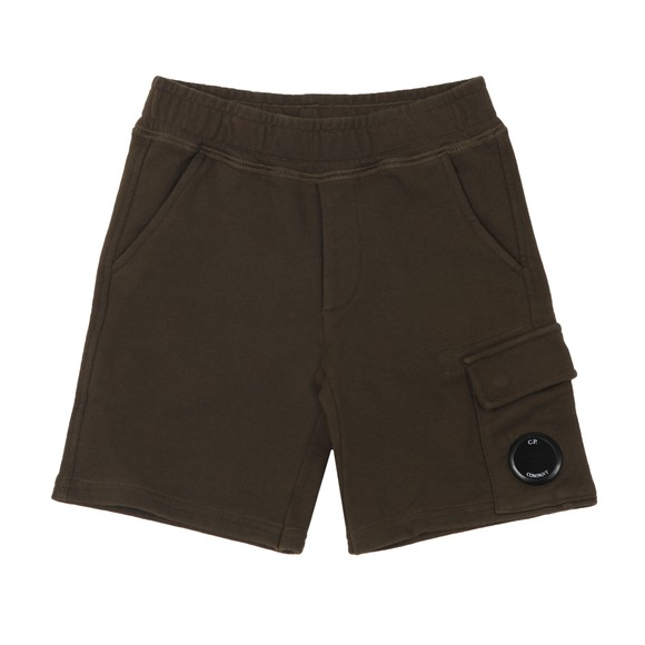 C.P. Company Undersixteen Boys Green Viewfinder Sweat Cargo Short