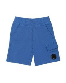 C.P. Company Undersixteen Boys Blue Viewfinder Sweat Cargo Short