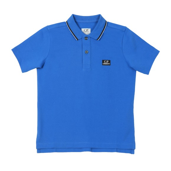C.P. Company Undersixteen Boys Blue Tipped Polo Shirt