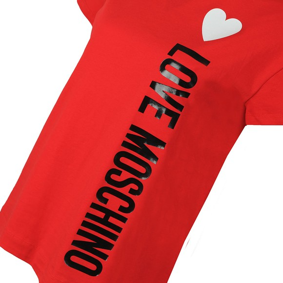 Love Moschino Womens Red Side Logo Core T-Shirt main image