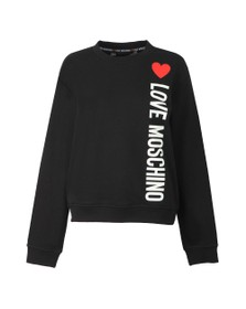 Love Moschino Womens Black Girocollo Sweatshirt