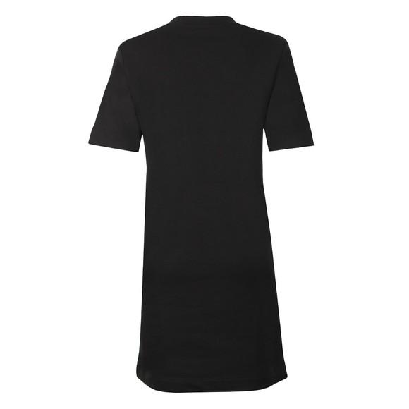 Love Moschino Womens Black Abito Side Logo Dress main image