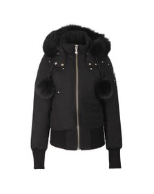 Moose Knuckles Womens Black Debbie Bomber