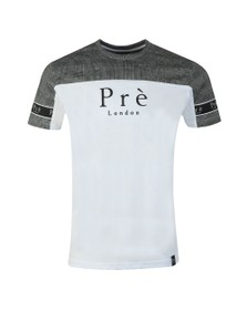 Pre London Mens White Prince of Wales T-Shirt
