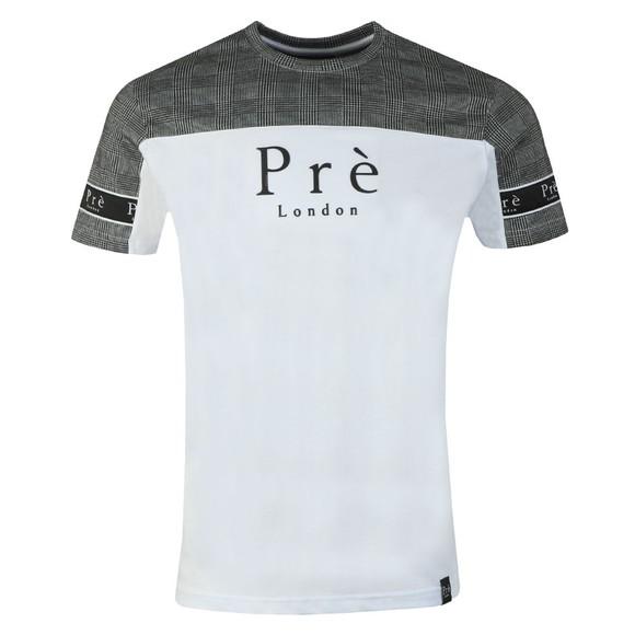Pre London Mens White Prince of Wales T-Shirt main image