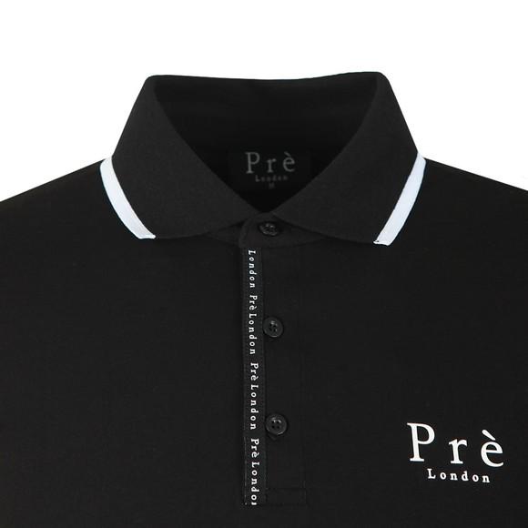 Pre London Mens Black Force Polo Shirt main image