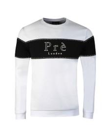 Pre London Mens White Toulouse Sweatshirt
