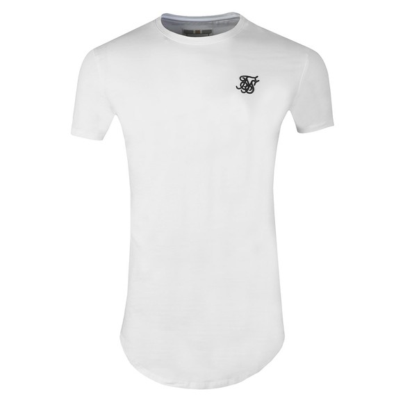 Sik Silk Mens White Core Gym T-Shirt main image