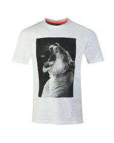 BOSS Mens White Casual Troaar T Shirt