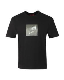 HUGO Mens Black Deen Holographic T Shirt