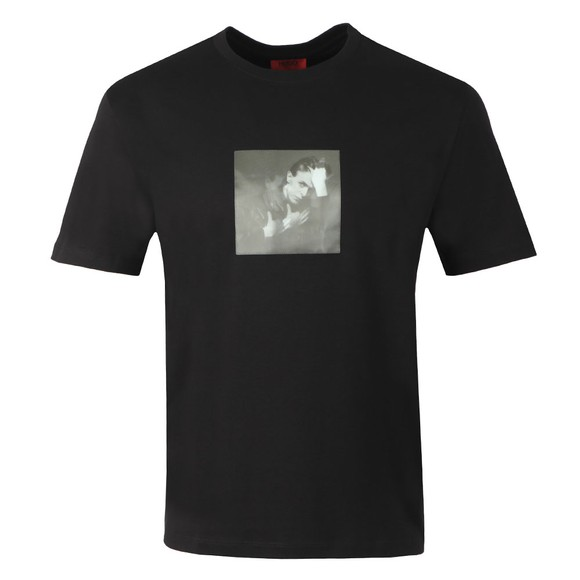 HUGO Mens Black Deen Holographic T Shirt main image