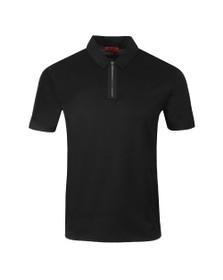 HUGO Mens Black Dolden Polo Shirt