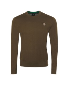 PS Paul Smith Mens Green Crew Neck Jumper