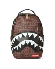 Sprayground Mens Brown Offended Shark Backpack