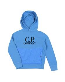 C.P. Company Undersixteen Boys Blue Nylon Mix Overhead Hoody