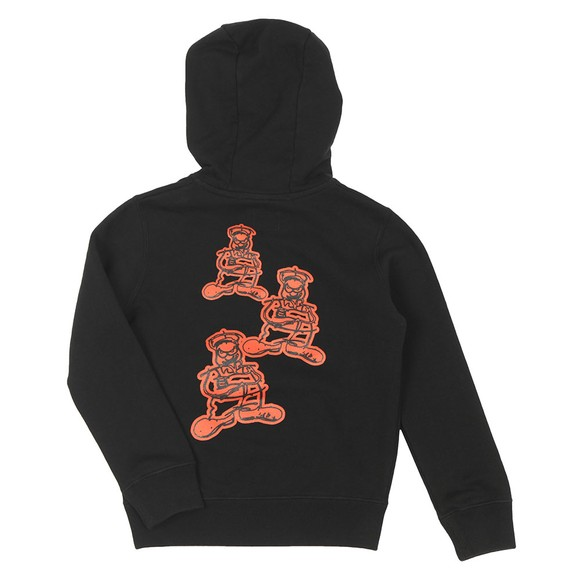 C.P. Company Undersixteen Boys Black Large Logo Overhead Hoody