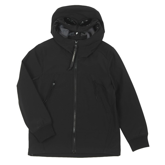 C.P. Company Undersixteen Boys Black Goggle Soft Shell Jacket main image