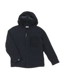C.P. Company Undersixteen Boys Blue Hooded Chest Pocket Jacket