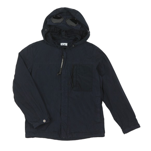 C.P. Company Undersixteen Boys Blue Hooded Chest Pocket Jacket main image