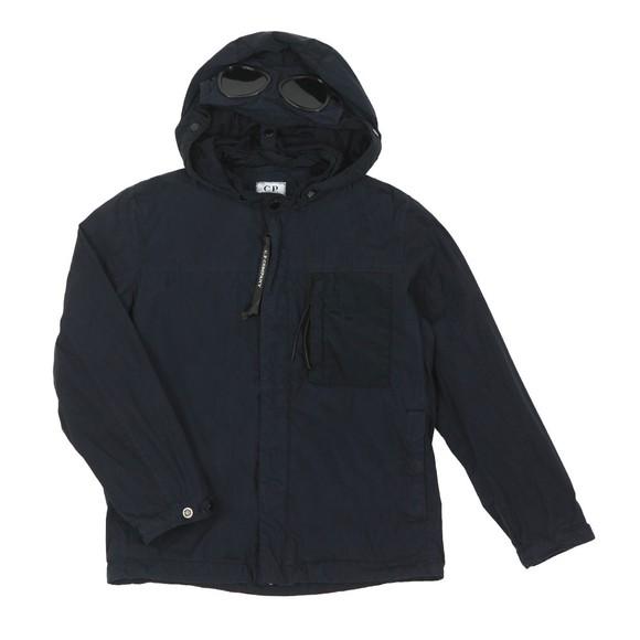 C.P. Company Undersixteen Boys Blue Hooded Chest Pocket Jacket