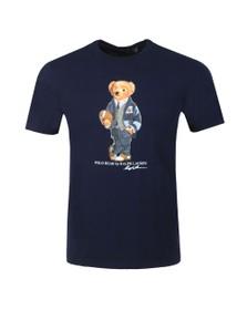 Polo Bear By Ralph Lauren Mens Blue New Football Bear T Shirt