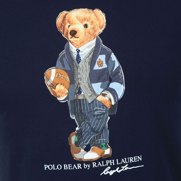 Polo Bear By Ralph Lauren Mens Blue New Football Bear T Shirt main image