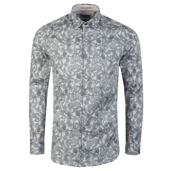 Ted Baker Mens White Paisley Shirt