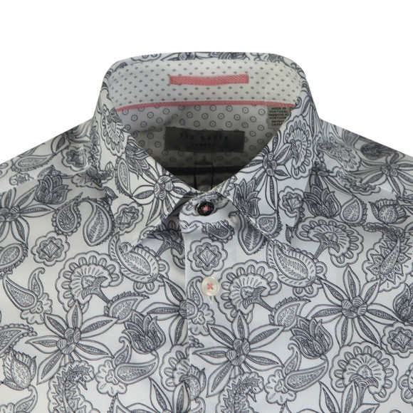 Ted Baker Mens White Paisley Shirt main image