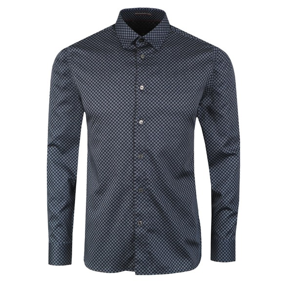 Ted Baker Mens Blue Geo Print Shirt main image