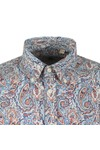 Pretty Green Mens Blue Liberty Paisley Shirt