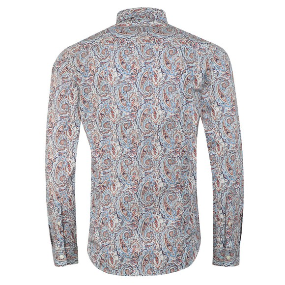 Pretty Green Mens Blue Liberty Paisley Shirt main image