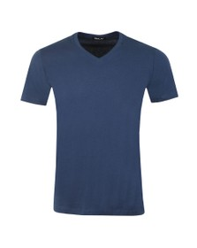 Replay Mens Blue V Neck Tee