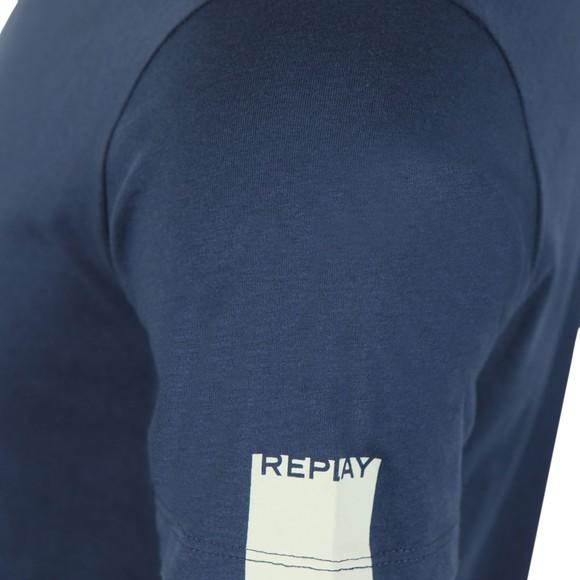 Replay Mens Blue V Neck Tee main image