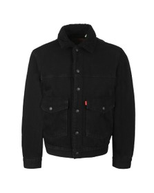 Levi's Mens Black Sherpa 3 Trucker Jacket