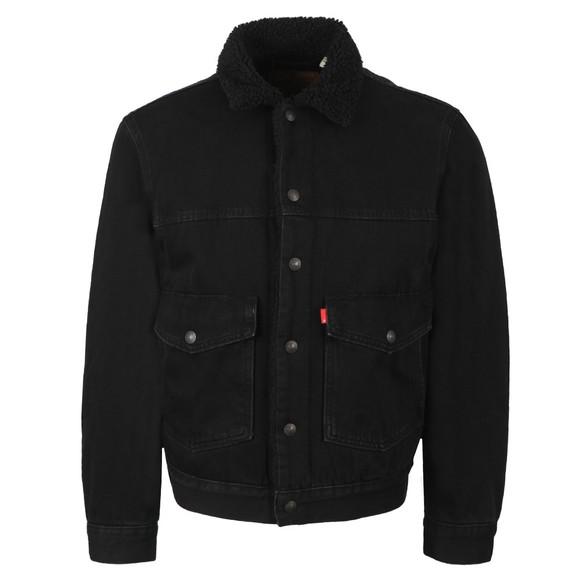 Levi's Mens Black Sherpa 3 Trucker Jacket main image