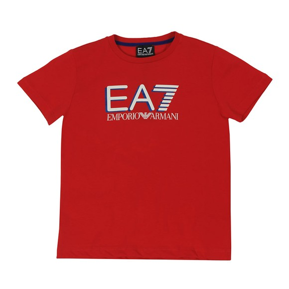 EA7 Emporio Armani Boys Red Large Logo T-Shirt