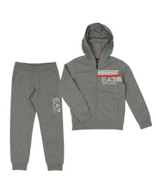 EA7 Emporio Armani Boys Grey Hooded Tracksuit