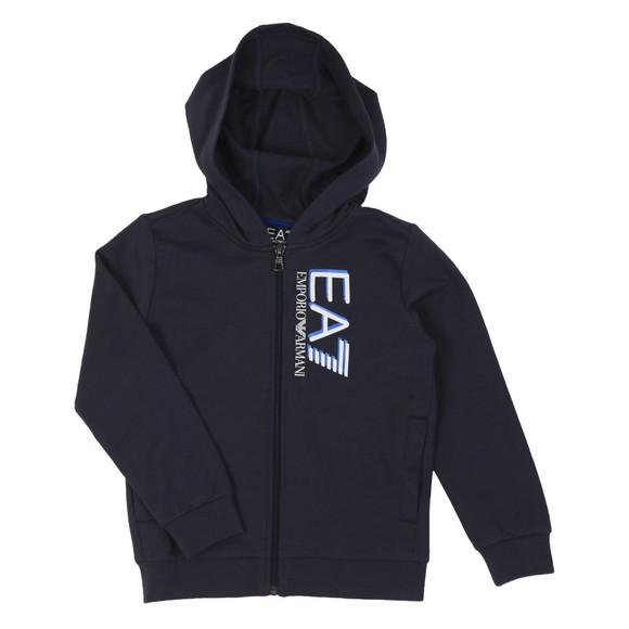 EA7 Emporio Armani Boys Blue Shadow Hooded Tracksuit main image