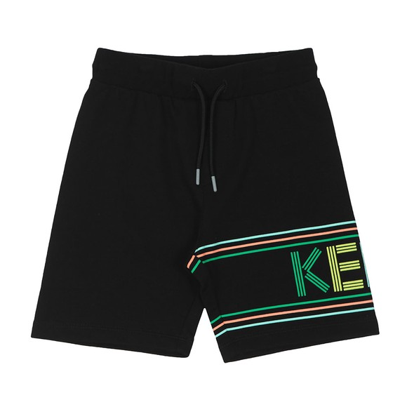 Kenzo Kids Boys Black Sport Line Jersey Short