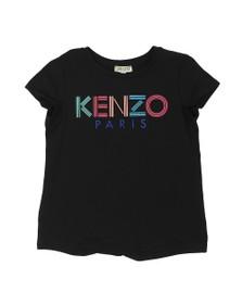 Kenzo Kids Girls Black Sport Line Logo T Shirt