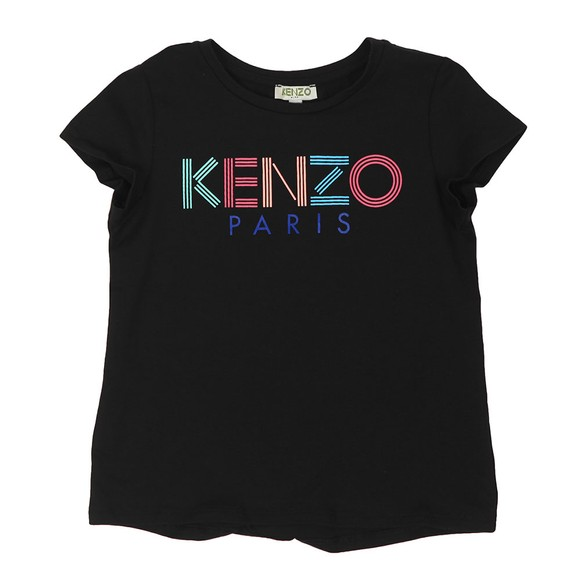 Kenzo Kids Girls Black Sport Line Logo T Shirt