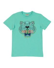 Kenzo Kids Boys Green Boys Printed Tiger T Shirt