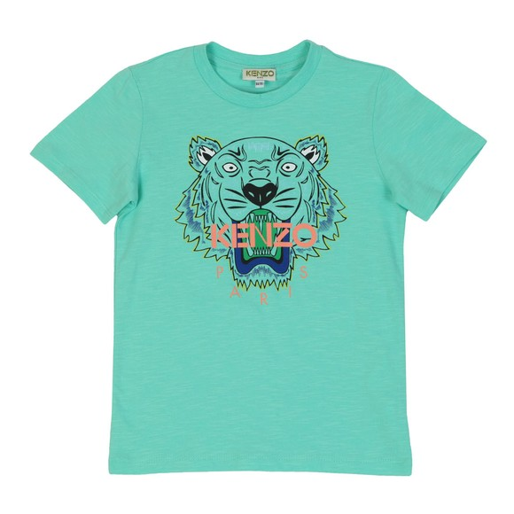 Kenzo Kids Boys Green Boys Printed Tiger T Shirt
