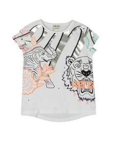 Kenzo Kids Girls White Janice Disco Jungle T Shirt