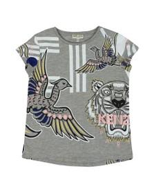 Kenzo Kids Girls Grey Jennifer Phoenix Celebration T Shirt