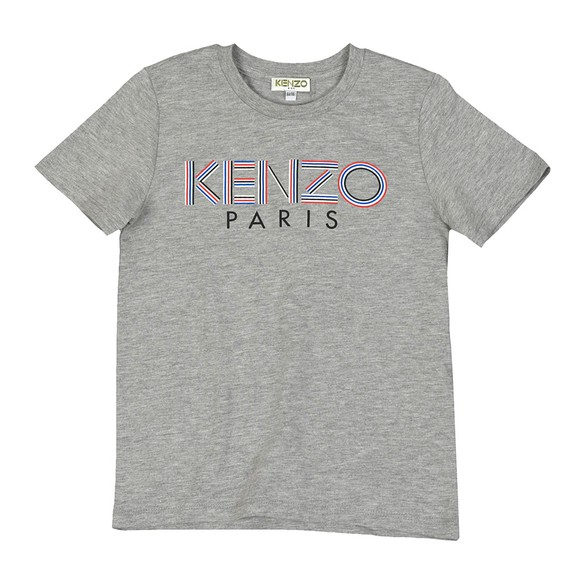 Kenzo Kids Boys Grey Sport Line Logo T Shirt main image