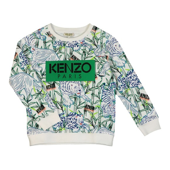 Kenzo Kids Boys White Jake Disco Jungle Sweatshirt